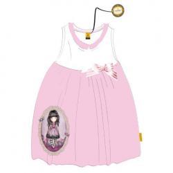 Vestido Gorjuss Blanco Rosa T.12 - Imagen 1