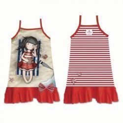 Vestido Playa Gorjuss Rojo T.6 - Imagen 1