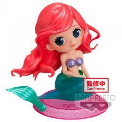 Figura Ariel La Sirenita Glitter Line Disney Characters Q posket 10cm - Imagen 1