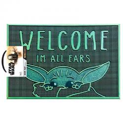 Felpudo Welcome Im All Ears Yoda The Child Star Wars The Mandalorian - Imagen 1