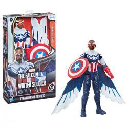 Figura Titan Capitan America Falcon y el Soldado de Inverno Marvel 30cm - Imagen 1