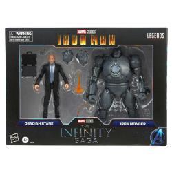 Set 2 figuras Obadiah Stane y Iron Monger Iron Man The Infinity Saga Marvel Legends 15cm - Imagen 1