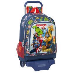 Mochila Grande Con Carro Avengers Marvel  32x14x42cm. - Imagen 1