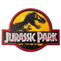 Cartel metal Logo Jurassic Park - Imagen 1