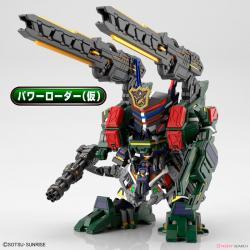 Figura Model Kit Sergeant Verde Buster Gundam SD Gundam World Heroes - Imagen 1