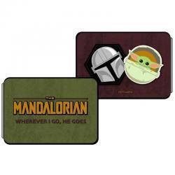 Tarjetero Yoda Mandalorian Star Wars - Imagen 1