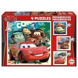 Puzzle Progresivo Cars 2 12-16-20-25pzs - Imagen 1