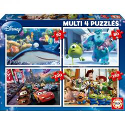 Puzzle Multi Buscando a Nemo + Monstruos SA. + Cars + Toy Story Disney Pixar 50-80-100-150pzs - Imagen 1