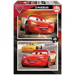 Puzzle Cars 3 Disney 2x48pzs - Imagen 1