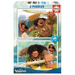 Puzzle Vaiana Disney 2x48pzs - Imagen 1