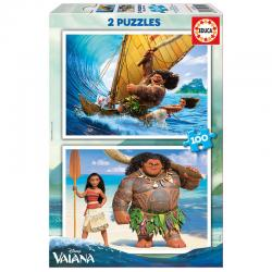 Puzzle Vaiana Disney 2x100pzs - Imagen 1