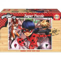 Puzzle Prodigiosa Ladybug madera 100pzs - Imagen 1