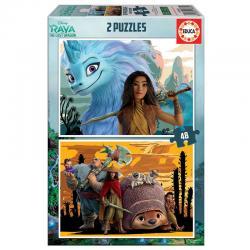 Puzzle Raya y el Ultimo Dragon Disney 2x48pzs - Imagen 1