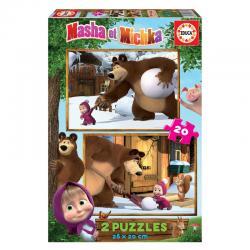 Puzzle Masha y el Oso 2x20pcs - Imagen 1