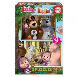 Puzzle Masha y el Oso 2x48pcs - Imagen 1