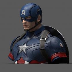 Vengadores Endgame Hucha Captain America 20 cm - Imagen 1