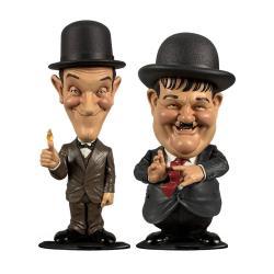 El Gordo y el Flaco Pack de 2 Cabezóns Mini Suits 8 cm - Imagen 1