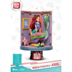 Ralph Rompe Internet Diorama PVC D-Stage Ariel & Vanellope 15 cm - Imagen 1