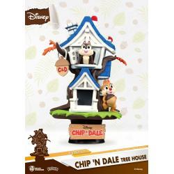Disney Summer Series Diorama PVC D-Stage Chip 'n Dale Tree House 16 cm - Imagen 1