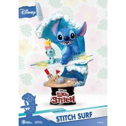 Disney Summer Series Diorama PVC D-Stage Stitch Surf 15 cm - Imagen 1
