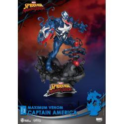 Marvel Comics Diorama PVC D-Stage Maximum Venom Captain America 16 cm - Imagen 1