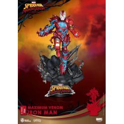 Marvel Comics Diorama PVC D-Stage Maximum Venom Iron Man 16 cm - Imagen 1