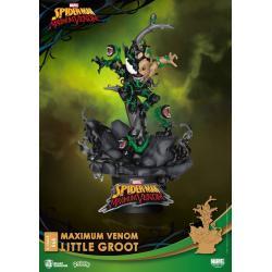 Marvel Comics Diorama PVC D-Stage Maximum Venom Little Groot 16 cm - Imagen 1