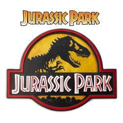 Jurassic Park cartel de metal Logo - Imagen 1