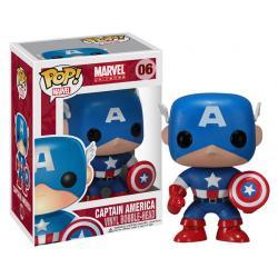 Marvel Comics POP! Vinyl Cabezón Captain America 10 cm - Imagen 1
