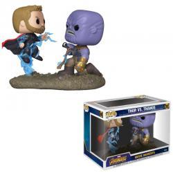 Marvel Pack de 2 POP! Movie Moments Vinyl Figuras Thor & Thanos 9 cm - Imagen 1