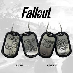 Fallout Chapas de Identificación con Collar Logo - Imagen 1
