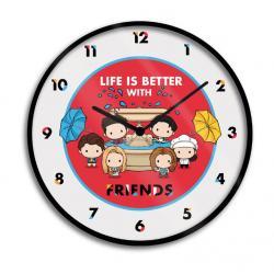 Friends Reloj de Pared Life is Better with Friends Chibi - Imagen 1