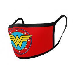 Wonder Woman Pack de 2 máscaras de tela Logo - Imagen 1