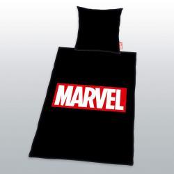 Marvel Comics Funda Nórdica Logo Negro 135 x 200 cm / 80 x 80 cm - Imagen 1
