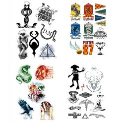 Harry Potter Set de 35 Tatuajes temporales - Imagen 1