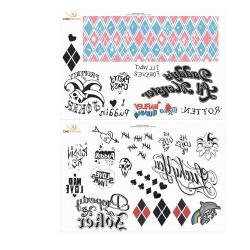 DC Comics Set de 40 Tatuajes temporales Harley Quinn - Imagen 1