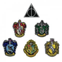 Harry Potter Pack de 6 Parches Escudos de las Casas - Imagen 1