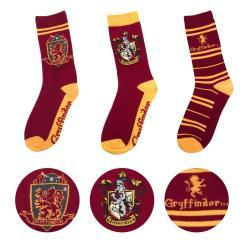 Harry Potter Pack de 3 Pares de calcetines Gryffindor - Imagen 1