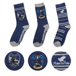 Harry Potter Pack de 3 Pares de calcetines Ravenclaw - Imagen 1