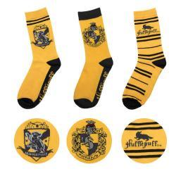 Harry Potter Pack de 3 Pares de calcetines Hufflepuff - Imagen 1