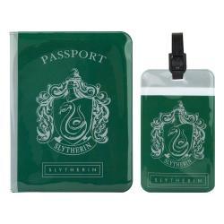 Harry Potter Etiqueta del equipaje & Estuche Pasaporte Set Slytherin - Imagen 1