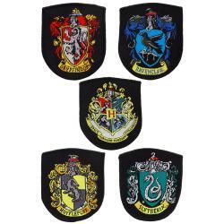 Harry Potter Pack de 5 Parches Escudos de las Casas - Imagen 1