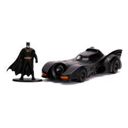 Batman 1989 Vehículo 1/32 Hollywood Rides 1989 Batmobile con Figura - Imagen 1