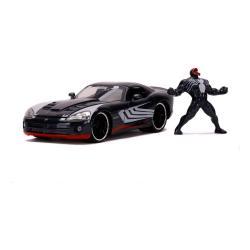 Marvel Spider-Man Vehículo 1/24 Hollywood Rides 2008 Dodge Viper SRT10 con Figura - Imagen 1