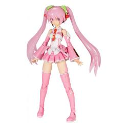 Hatsune Miku Frame Music Girl Maqueta Plastic Model Kit Sakura Miku 15 cm - Imagen 1