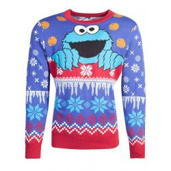Barrio Sésamo Suéter Christmas Cookie Monster talla S - Imagen 1