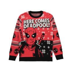 Deadpool Suéter Christmas Here comes Deadpool! talla XL - Imagen 1