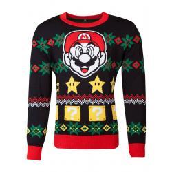 Nintendo Suéter Christmas Super Mario Night talla M - Imagen 1