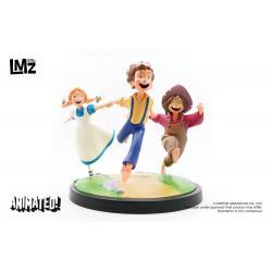 Las Aventuras de Tom Sawyer Estatua Animated! Tom, Huck & Becky 23 cm - Imagen 1