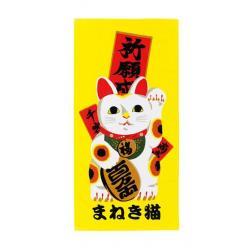 Ukiyo-e Toalla Japop Maneki Neko 50 x 100 cm - Imagen 1